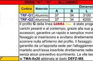 1- Profilo Alluminio TRF-G1