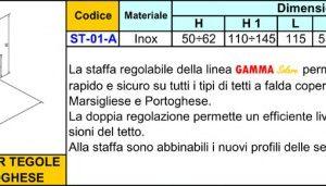 1-Staffa per tegola Marsigliese e Portoghese ST-01-A